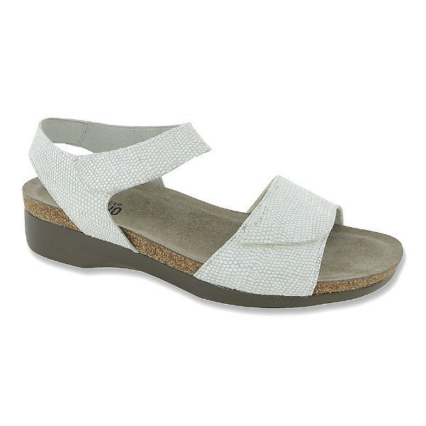 WOMEN'S CATELYN WHITE PRINT SUEDE SANDAL Thumbnail