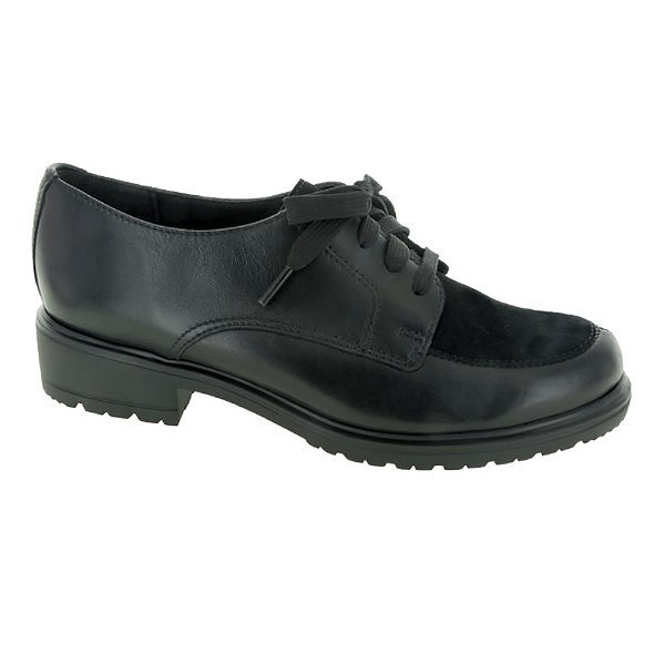 WOMEN'S VERANDA BLACK LEATHER/SUEDE LACE UP Thumbnail