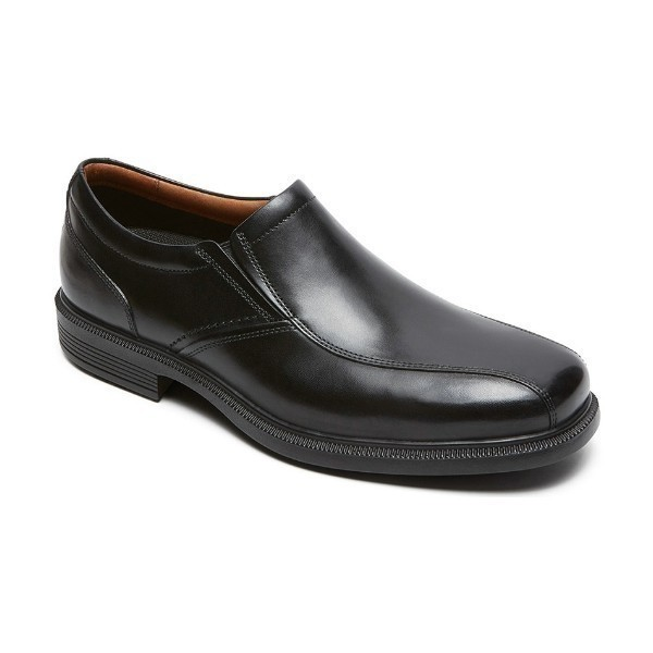 MEN'S DRESSPORTS LUXE BIKE TOE BLACK SLIP-ON Thumbnail