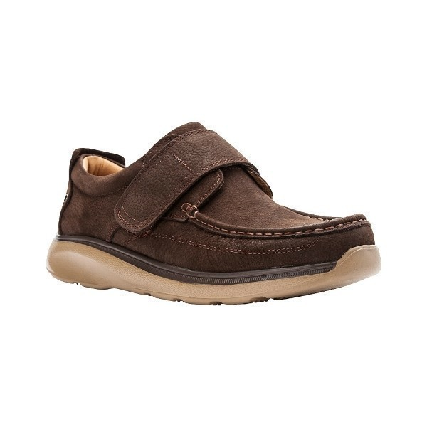 MEN'S OTTO BROWN HOOK-AND-LOOP CASUAL SHOE Thumbnail