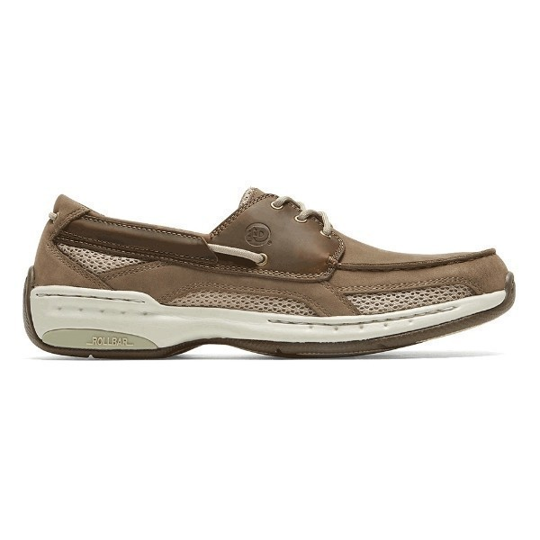 MEN'S CAPTAIN 3-EYELET TAUPE BOAT SHOE Thumbnail
