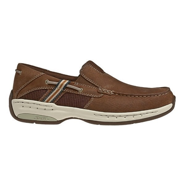 MEN'S WINDWARD BROWN LEATHER CASUAL SHOE Thumbnail
