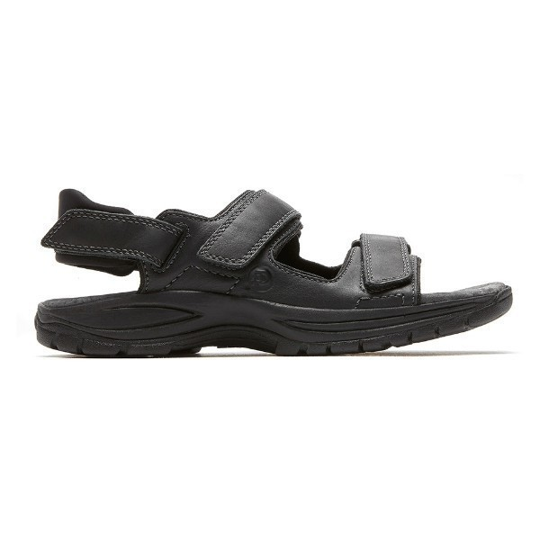 MEN'S ST.JOHNSBURY BLACK STRAP SANDAL Thumbnail