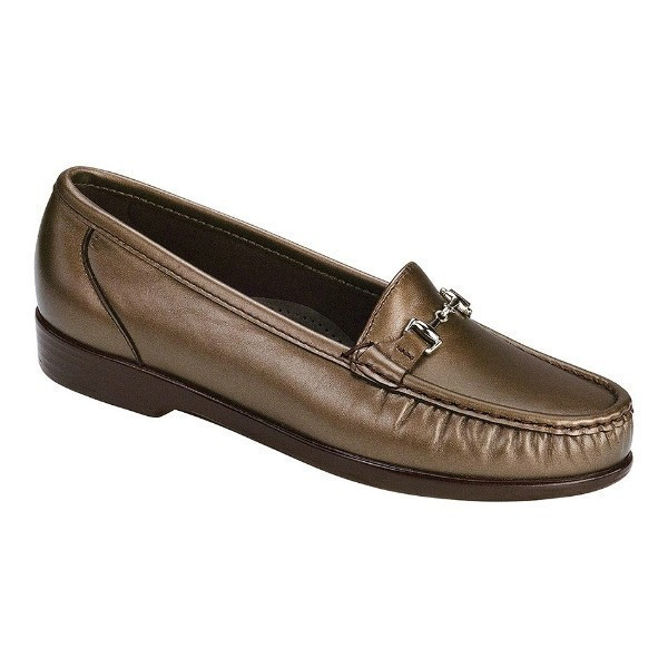 WOMEN'S METRO BRONZE LEATHER LOAFER Thumbnail