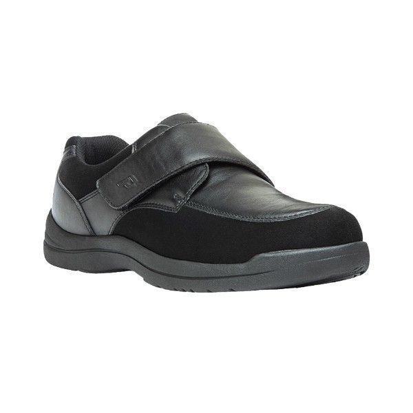 MEN'S MAX STRAP BLACK STRETCH CASUAL SHOE Thumbnail