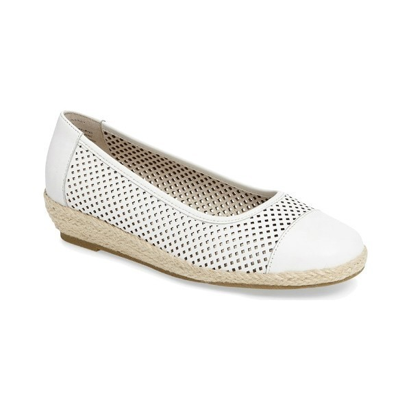 WOMEN'S NADINE WHITE LEATHER CASUAL SLIP-ON Thumbnail