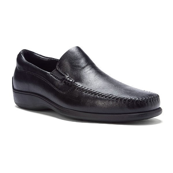 MEN'S ROME BLACK LEATHER DRESS LOAFER Thumbnail