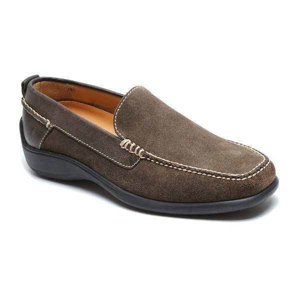 MEN'S SALERNO TAUPE SUEDE DRESS LOAFER Thumbnail