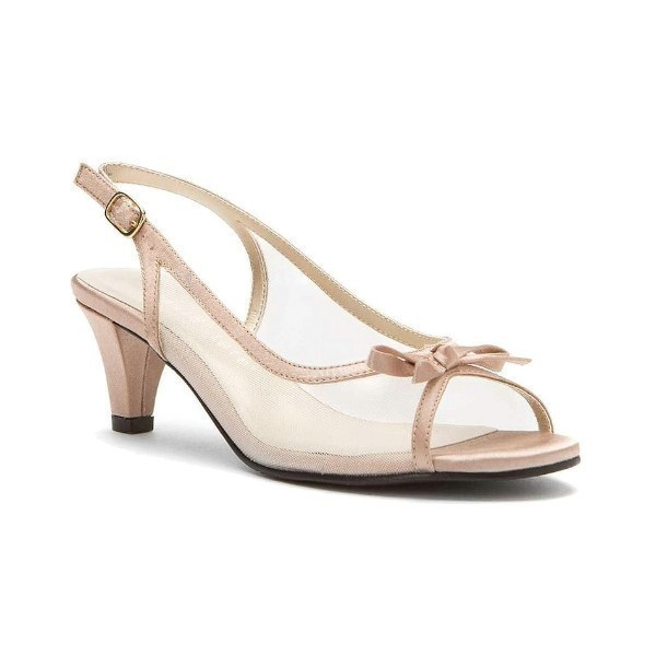 WOMEN'S PROM CHAMP SATIN/MESH EVENING SHOE Thumbnail