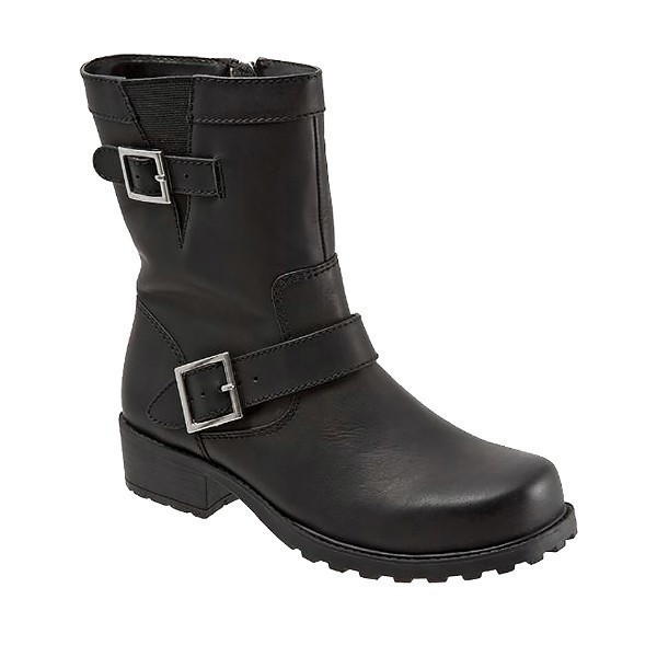 WOMEN'S BELLEVILLE BLACK SMOOTH LEATHER BOOT Thumbnail