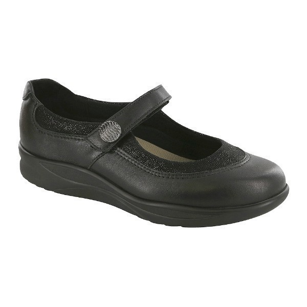 WOMEN'S STEP OUT BLACK LEATHER MARY JANE Thumbnail