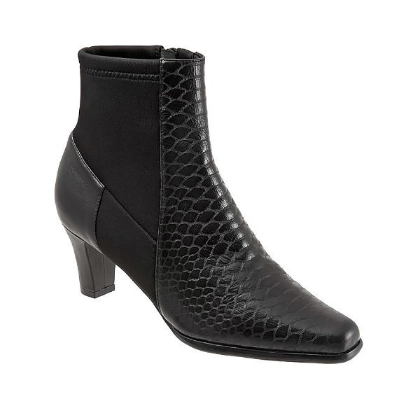 WOMEN'S JANET BLACK GLAZED SNAKE DRESS BOOT Thumbnail