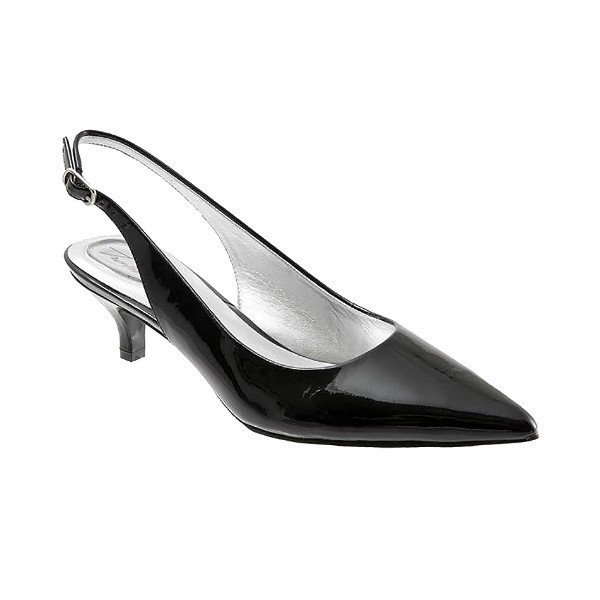 WOMEN'S PRIMA BLACK PATENT DRESS SLING BACK Thumbnail