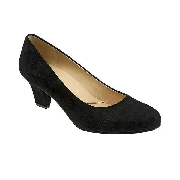WOMEN'S PENELOPE BLACK SUEDE PUMP Thumbnail