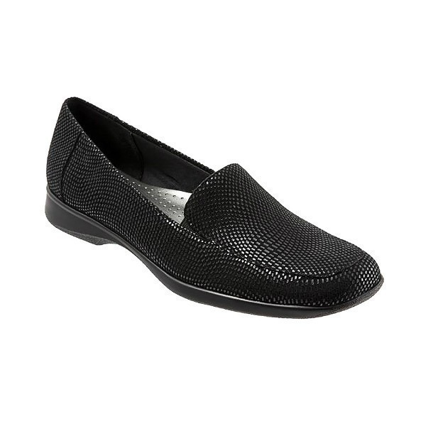 WOMEN'S JENN MINI DOTS BLACK SUEDE FLAT Thumbnail