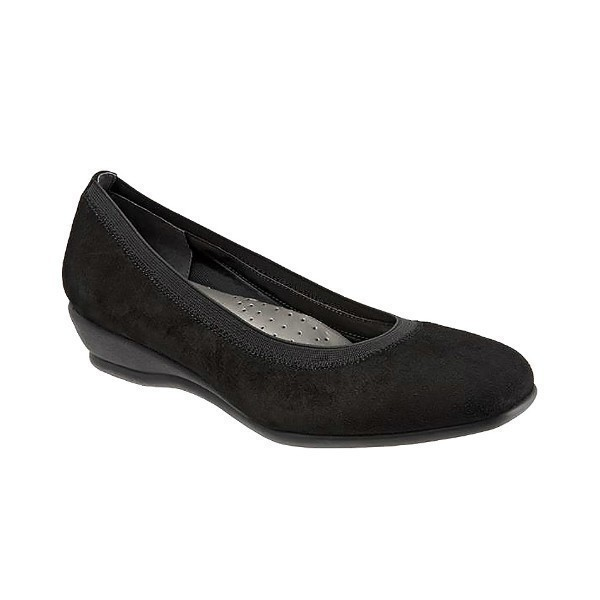 WOMEN'S LANSING BLACK SUEDE WEDGE Thumbnail