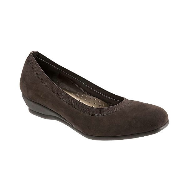 WOMEN'S LANSING BROWN SUEDE WEDGE Thumbnail