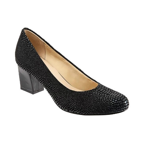 WOMEN'S CANDELA BLACK RAISED LIZARD PUMP Thumbnail