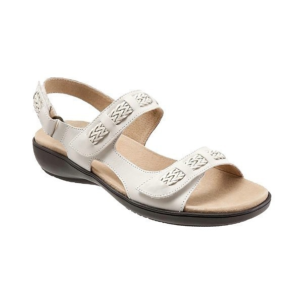 WOMEN'S KIP OFF-WHITE LEATHER SANDAL Thumbnail