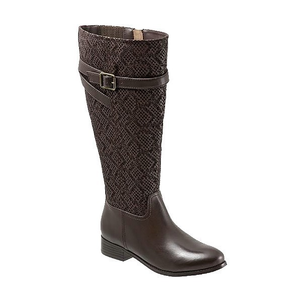 WOMEN'S LYRA WIDE CALF BROWN SNAKE TALL BOOT Thumbnail