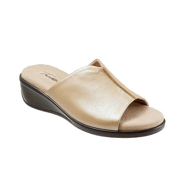 WOMEN'S ELLIE GOLDWASH LEATHER SLIDE SANDAL Thumbnail