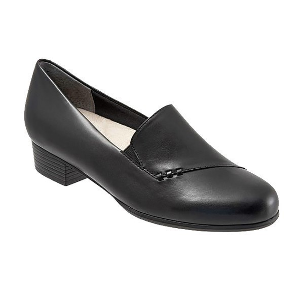 WOMEN'S MOMENT BLACK LEATHER DRESS SHOE Thumbnail