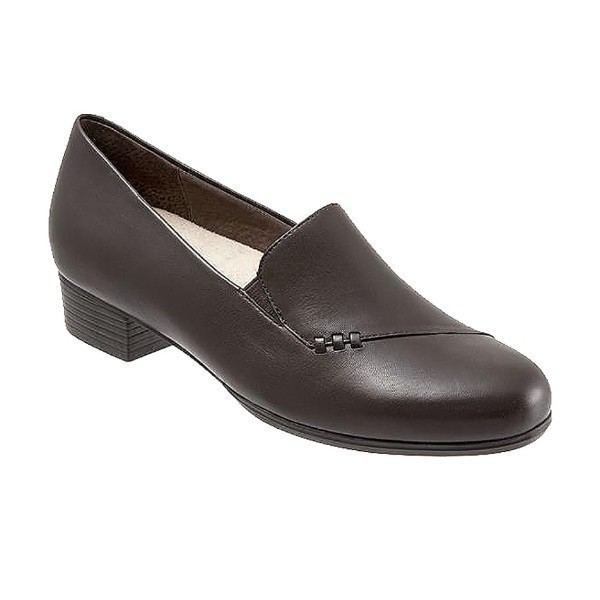 WOMEN'S MOMENT DARK BROWN LEATHER DRESS SHOE Thumbnail