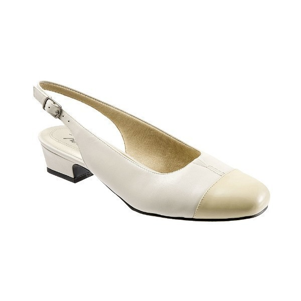 WOMEN'S DEA BONE/TAUPE LEATHER SLINGBACK Thumbnail