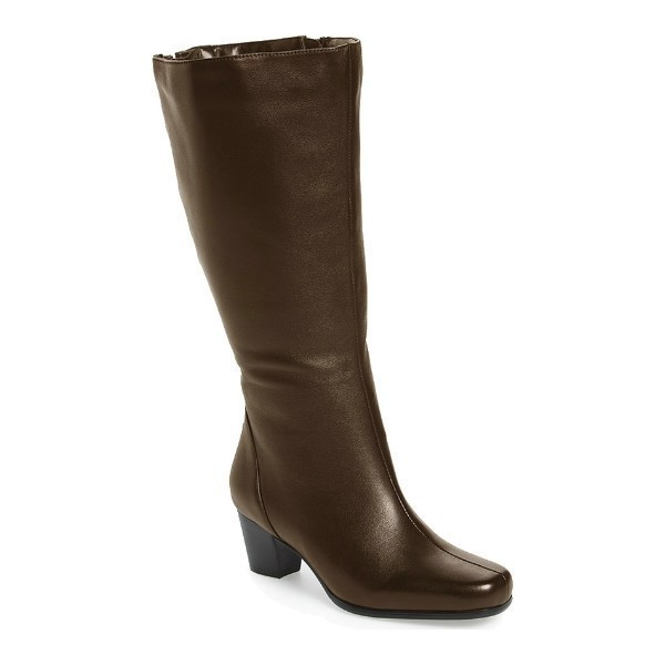 WOMEN'S TACOMA BROWN SOFT WIDE CALF TALL BOOT Thumbnail
