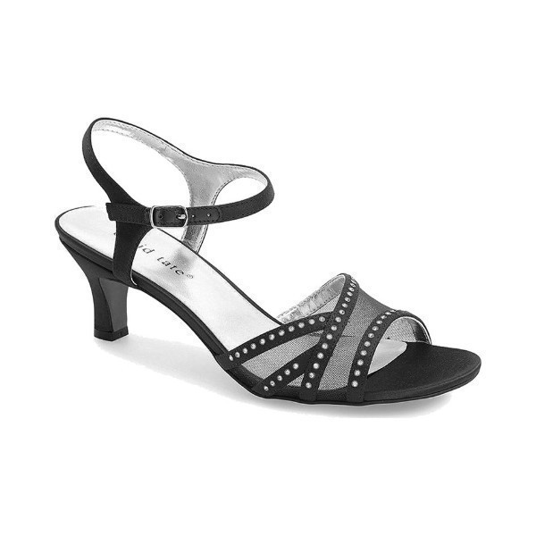 WOMEN'S VIOLET BLACK FABRIC EVENING SHOE Thumbnail