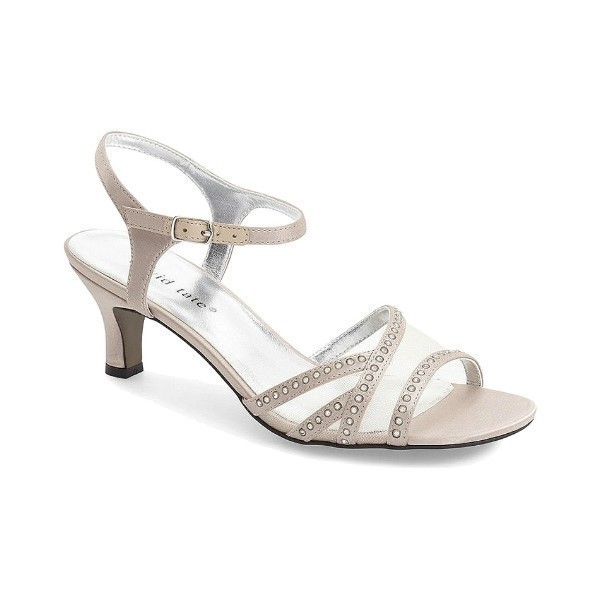 WOMEN'S VIOLET CHAMPAGNE FABRIC EVENING SHOE Thumbnail