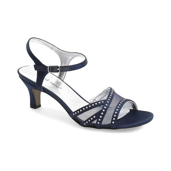 WOMEN'S VIOLET NAVY FABRIC EVENING SHOE Thumbnail