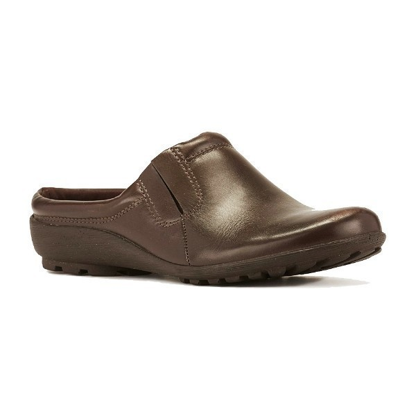 WOMEN'S HAMLET BROWN SOFTEE LEATHER CLOG Thumbnail