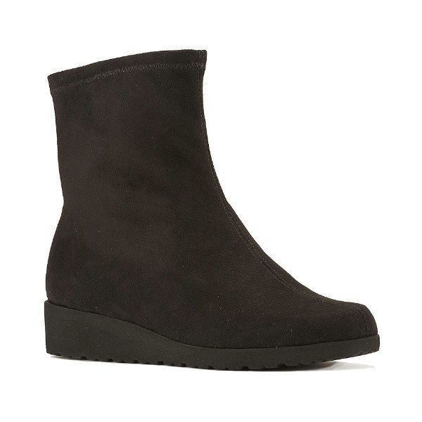 WOMEN'S FEATHER BLACK SUEDE STRETCH BOOTIE Thumbnail