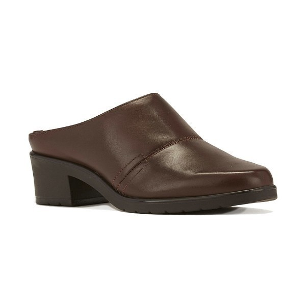WOMEN'S CADEN BROWN LEATHER CLOG Thumbnail
