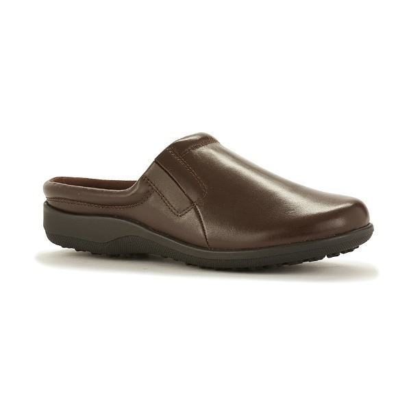 WOMEN'S ADOBE TOBACCO LEATHER CLOG Thumbnail