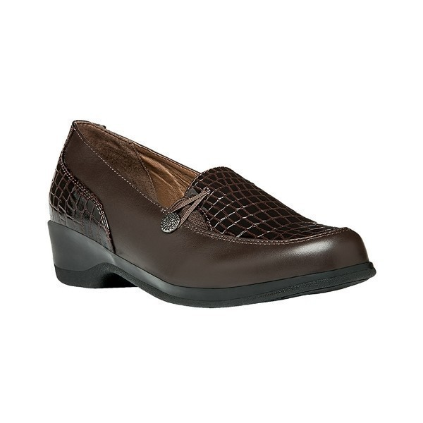 WOMEN'S BRIANA BROWN CROC DRESS LOAFER Thumbnail