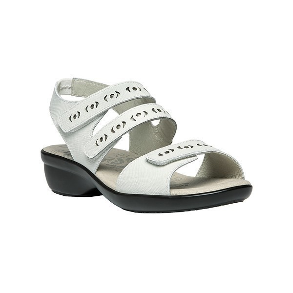 WOMEN'S KEELEY IVORY LEATHER SANDAL Thumbnail