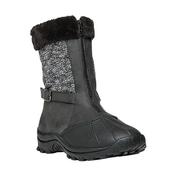 WOMEN'S BLIZZARD MID ZIP BLACK WINTER BOOT Thumbnail