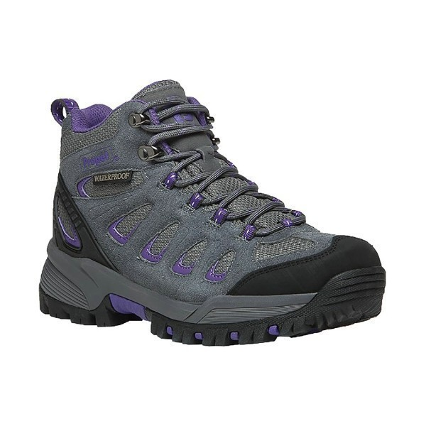 WOMEN'S RIDGE WALKER GREY PURPLE HIKER BOOT Thumbnail