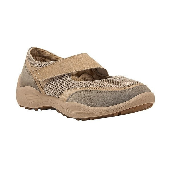 WOMEN'S LYDIA TAUPE SUEDE/MESH MARY JANE Thumbnail