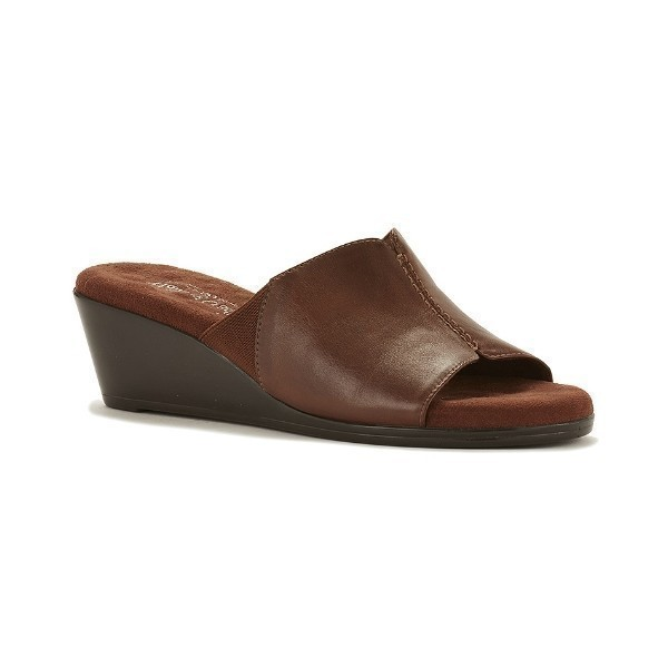 WOMEN'S NESTLE TOBACCO LEATHER SLIDE SANDAL Thumbnail