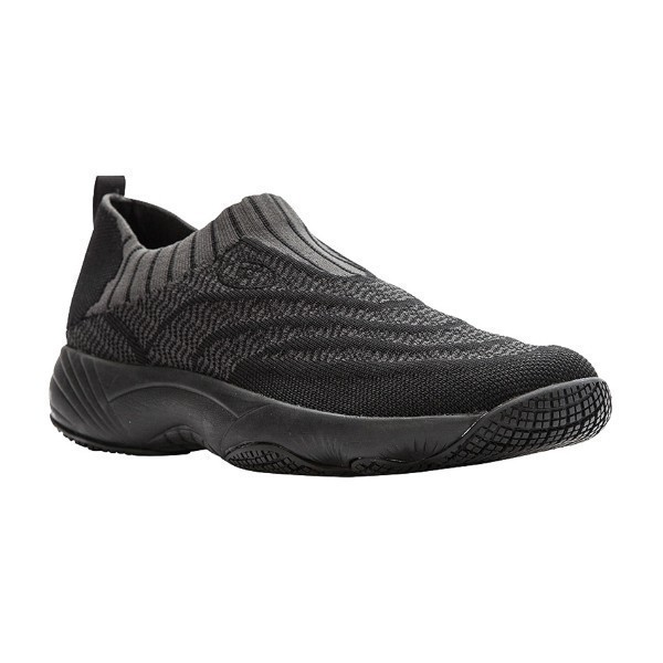 WOMEN'S WASH'N WEAR KNIT BLK/GREY SNEAKER Thumbnail