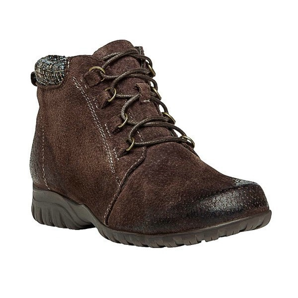 WOMEN'S DELANEY BROWN SUEDE ANKLE BOOTIE Thumbnail