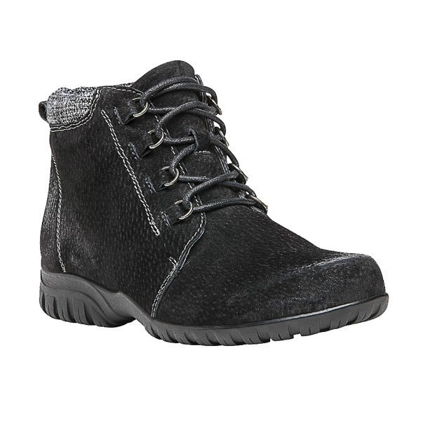 WOMEN'S DELANEY BLACK SUEDE ANKLE BOOTIE Thumbnail